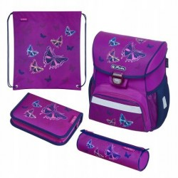 Tornister Herlitz LOOP Plus Glitter Butterfly ZESTAW